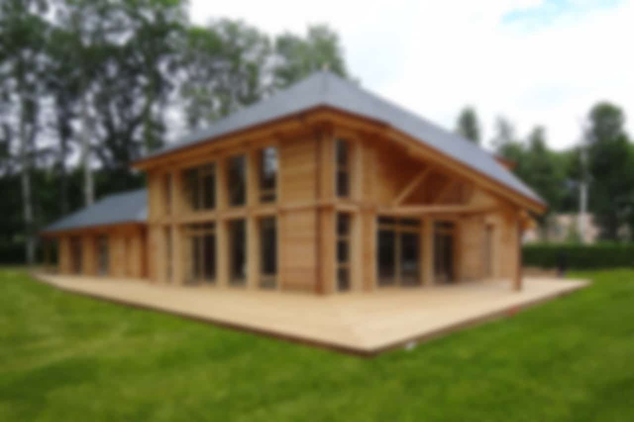 Maison contemporaine en bois massif, une réalisation GERBAT